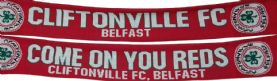 Cliftonville FC/Come On You Reds Jacquard Scarf